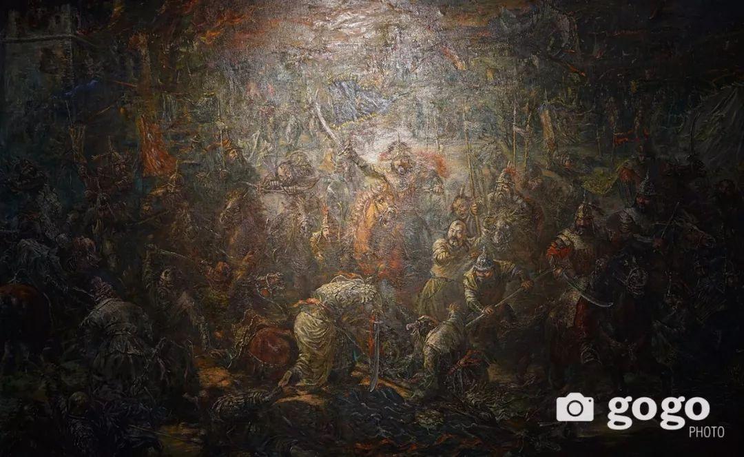 蒙古国经典油画作品欣赏,时代的记忆 第22张