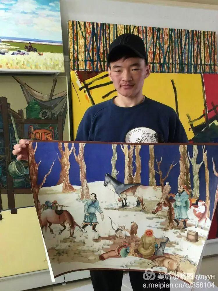 蒙古国90后天才画家普日布苏仁作品展示 第2张