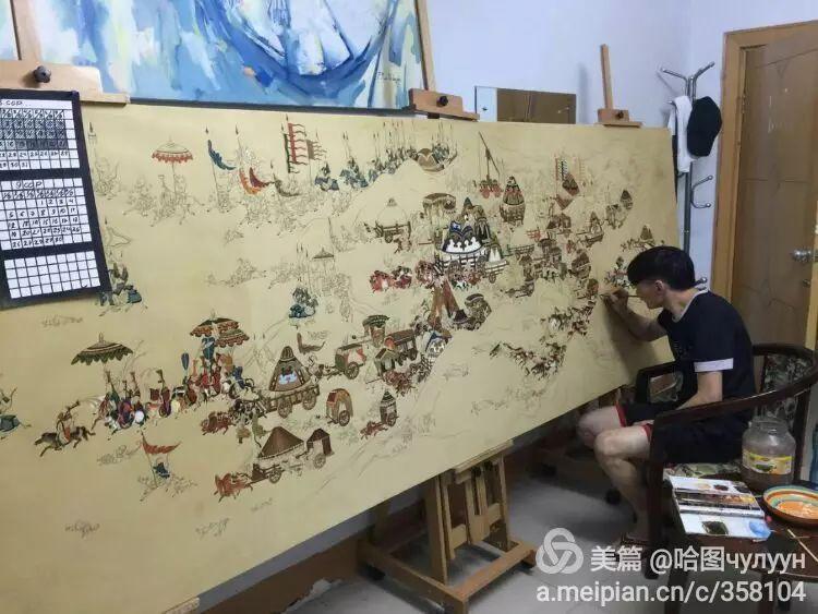 蒙古国90后天才画家普日布苏仁作品展示 第7张