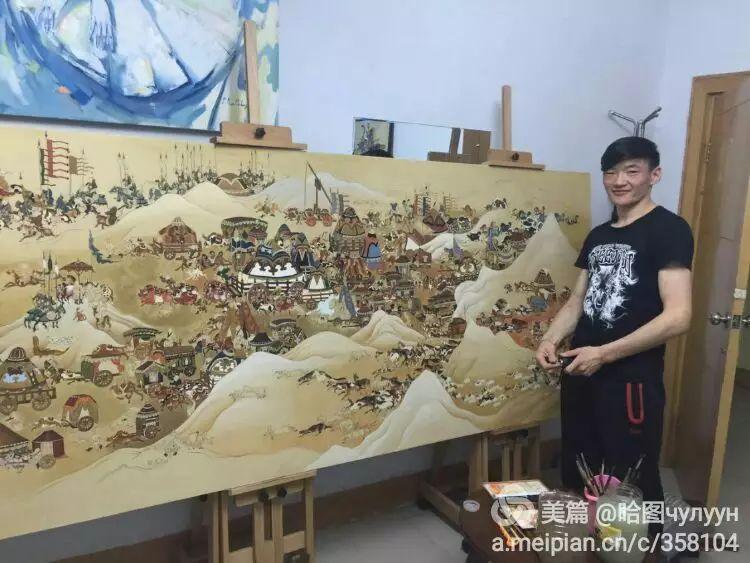 蒙古国90后天才画家普日布苏仁作品展示 第6张