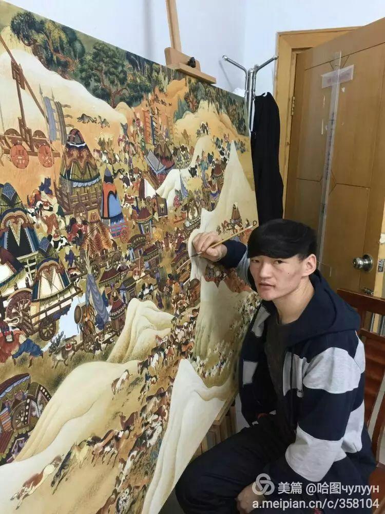 蒙古国90后天才画家普日布苏仁作品展示 第5张