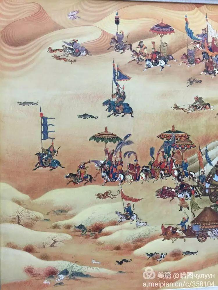 蒙古国90后天才画家普日布苏仁作品展示 第12张