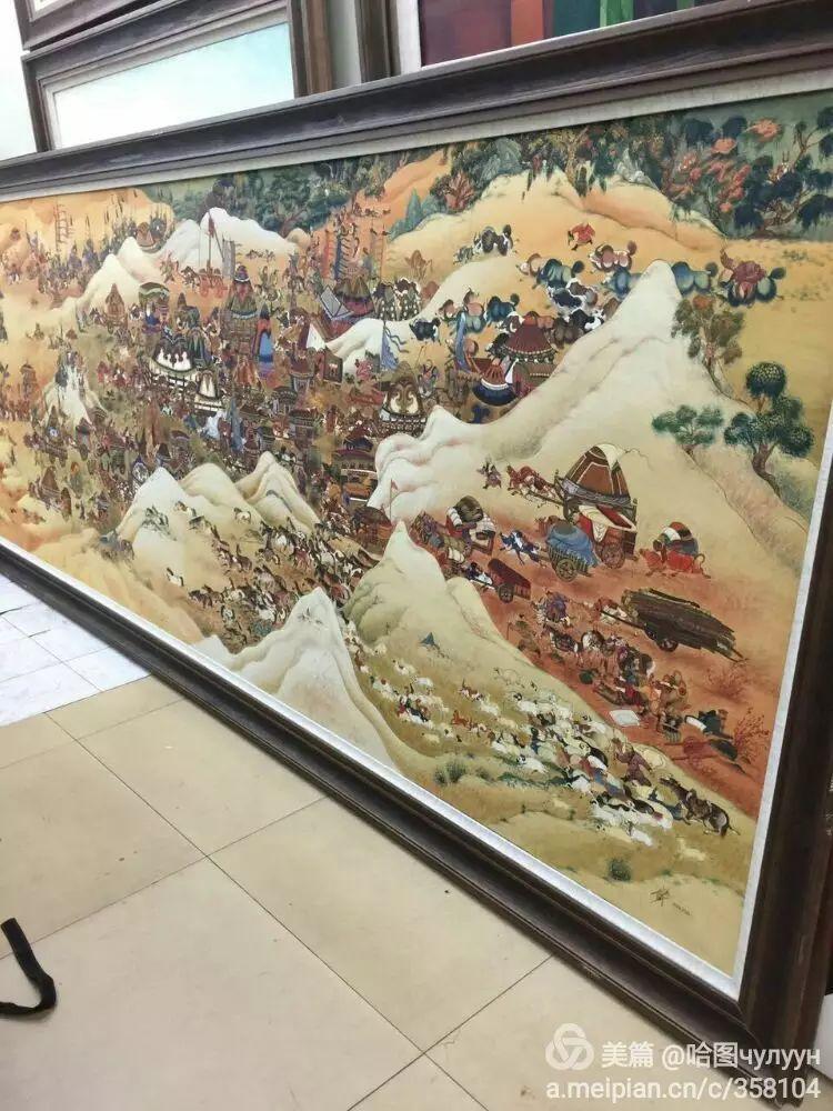 蒙古国90后天才画家普日布苏仁作品展示 第15张