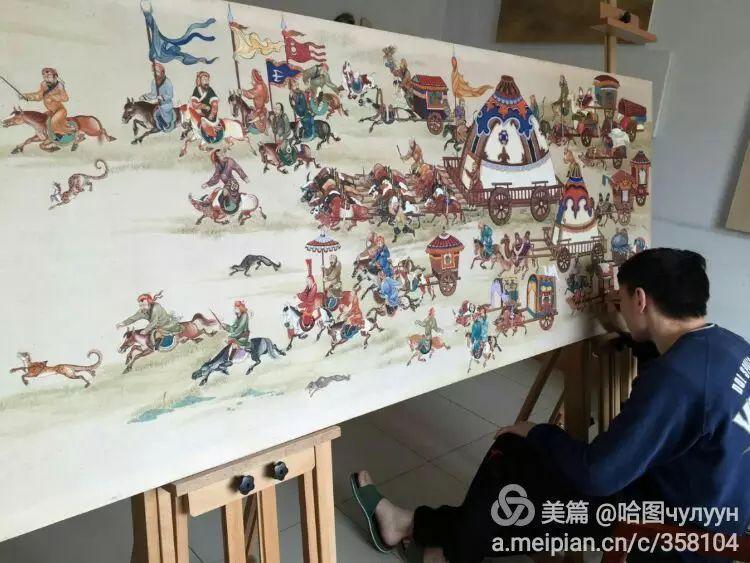 蒙古国90后天才画家普日布苏仁作品展示 第25张