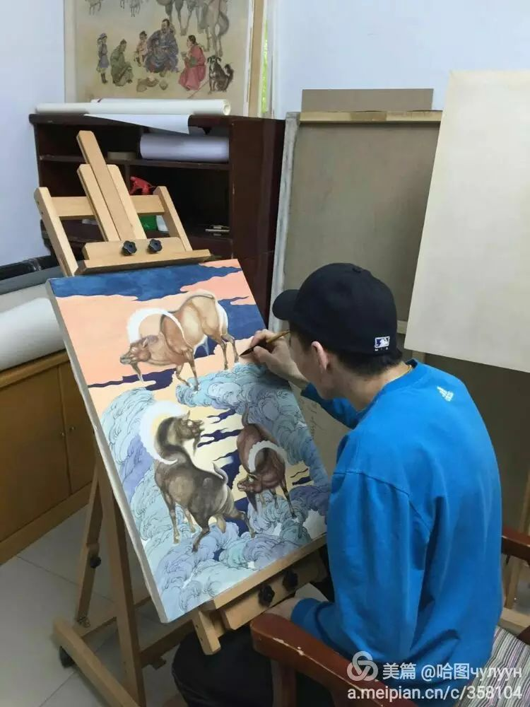 蒙古国90后天才画家普日布苏仁作品展示 第37张