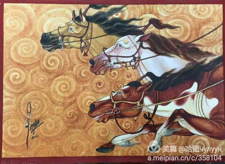 蒙古国90后天才画家普日布苏仁作品展示 第40张