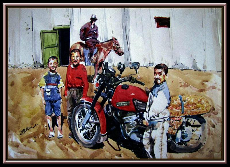 ♡◆蒙古国画家Batna的作品 — 民族绘画艺术 第4张