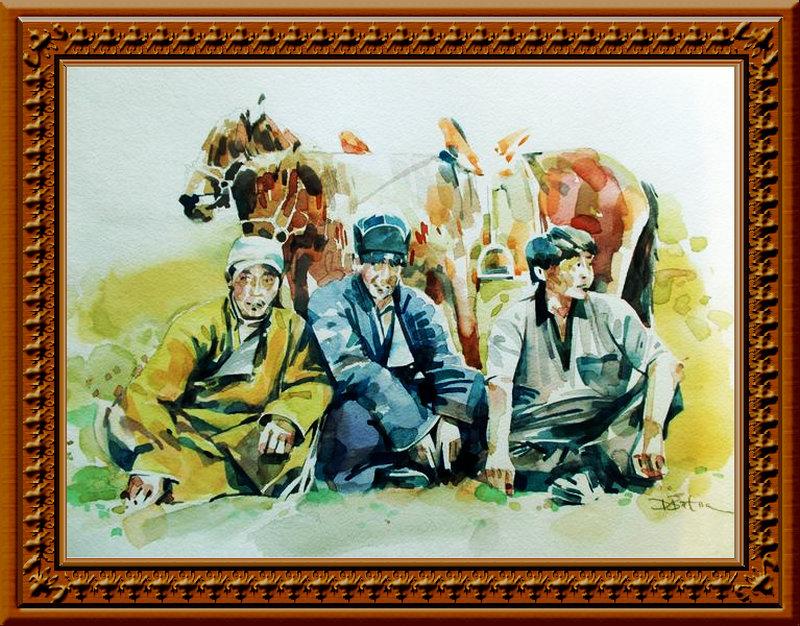 ♡◆蒙古国画家Batna的作品 — 民族绘画艺术 第2张
