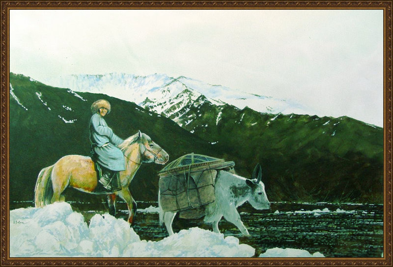 ♡◆蒙古国画家Batna的作品 — 民族绘画艺术 第7张
