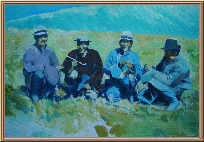 ♡◆蒙古国画家Batna的作品 — 民族绘画艺术 第6张