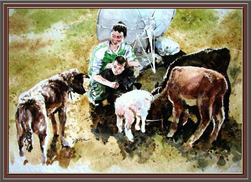 ♡◆蒙古国画家Batna的作品 — 民族绘画艺术 第10张