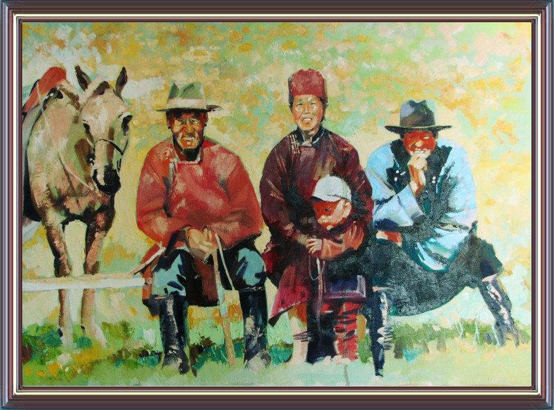 ♡◆蒙古国画家Batna的作品 — 民族绘画艺术 第11张