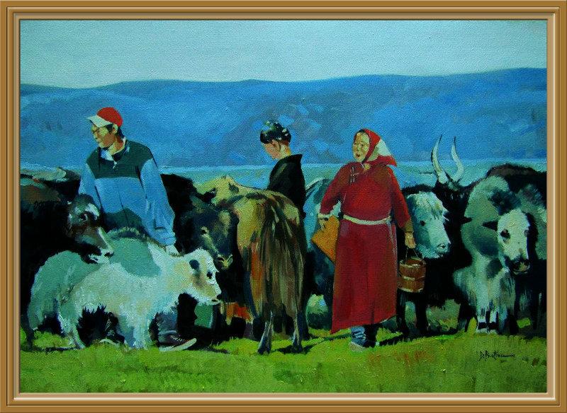 ♡◆蒙古国画家Batna的作品 — 民族绘画艺术 第9张