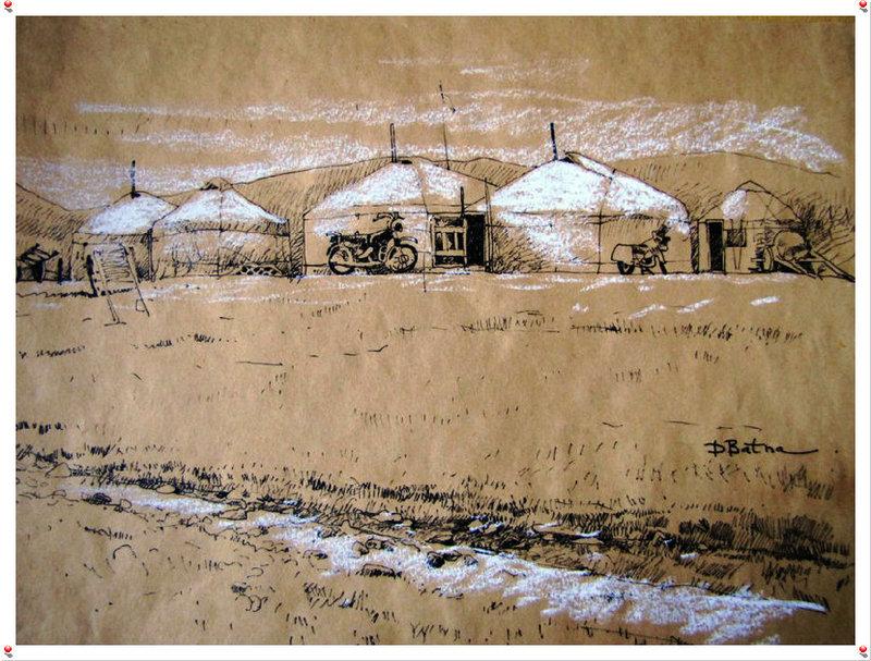 ♡◆蒙古国画家Batna的作品 — 民族绘画艺术 第15张