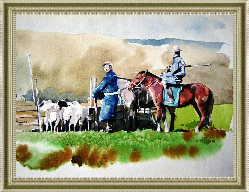 ♡◆蒙古国画家Batna的作品 — 民族绘画艺术 第17张