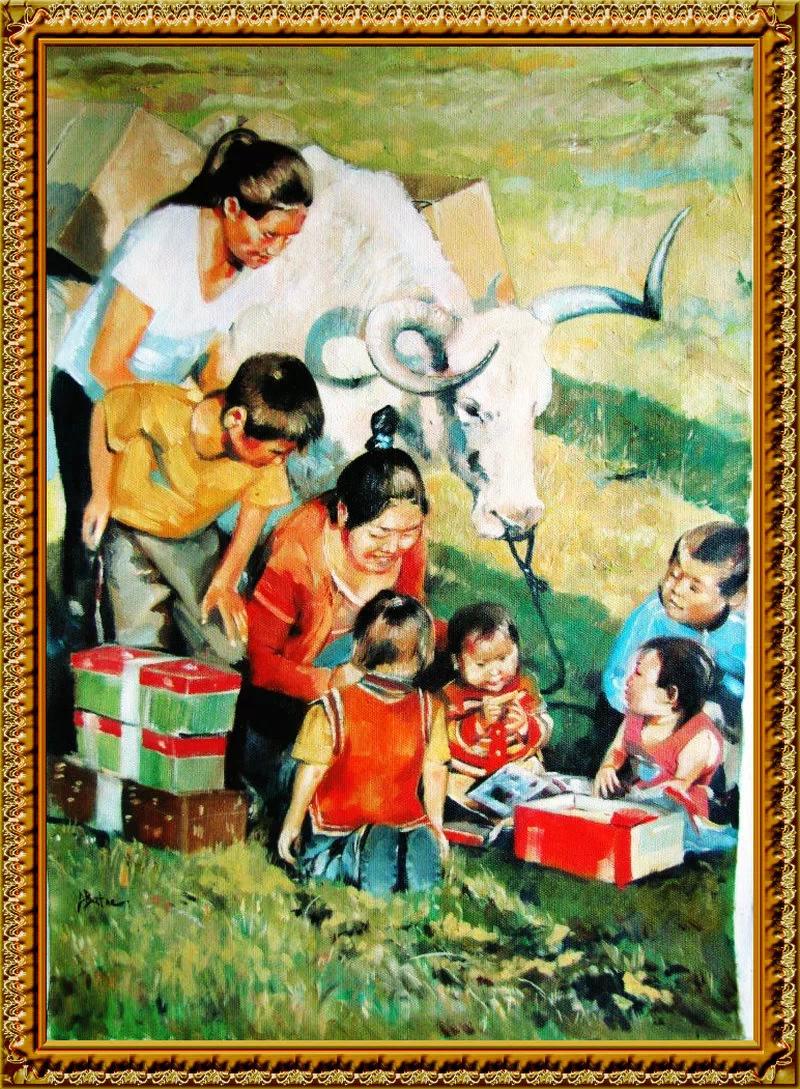 ♡◆蒙古国画家Batna的作品 — 民族绘画艺术 第21张