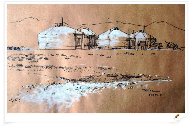 ♡◆蒙古国画家Batna的作品 — 民族绘画艺术 第20张