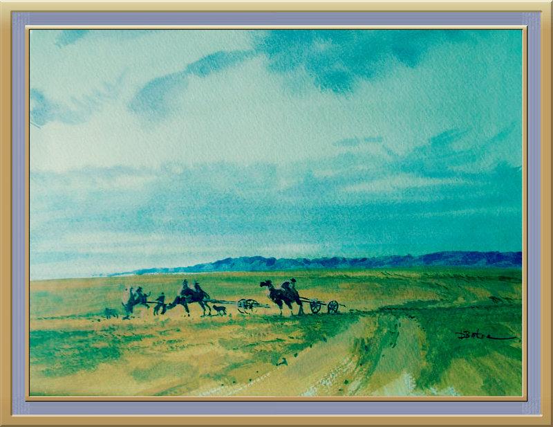 ♡◆蒙古国画家Batna的作品 — 民族绘画艺术 第24张