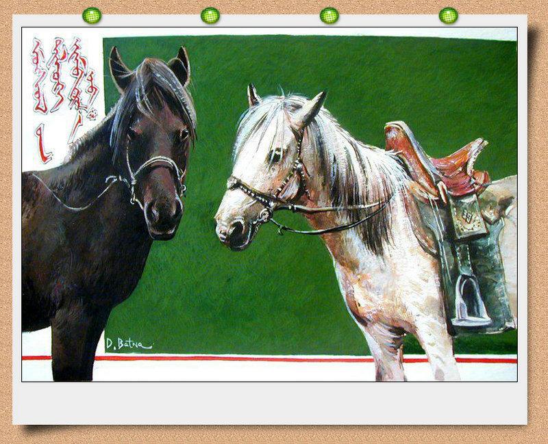 ♡◆蒙古国画家Batna的作品 — 民族绘画艺术 第25张