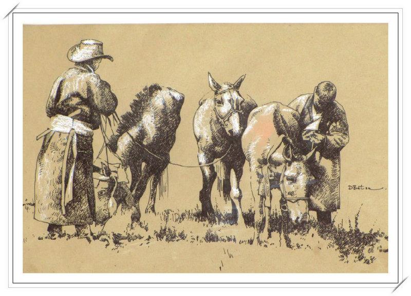 ♡◆蒙古国画家Batna的作品 — 民族绘画艺术 第29张