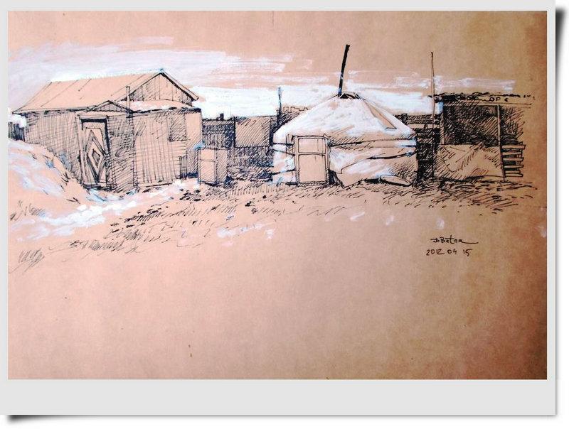 ♡◆蒙古国画家Batna的作品 — 民族绘画艺术 第27张