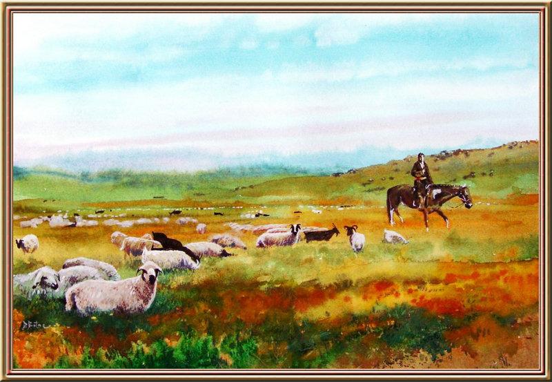 ♡◆蒙古国画家Batna的作品 — 民族绘画艺术 第31张