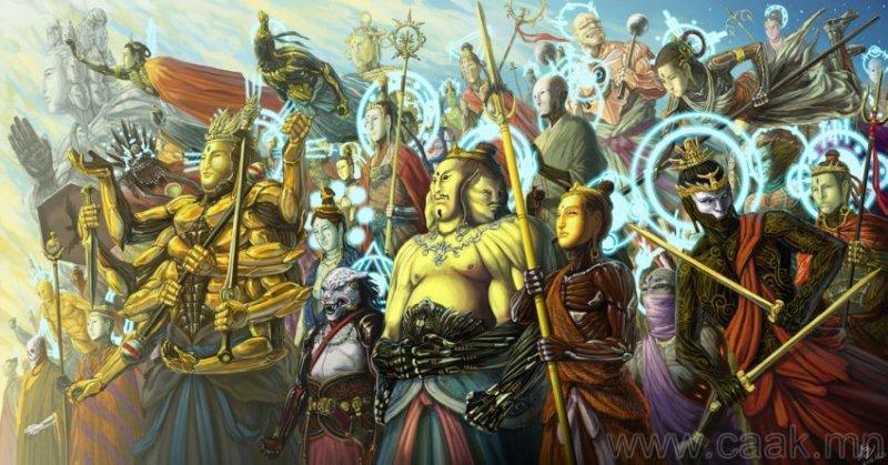 ©◆民族艺术 — 蒙古国布仁额尔敦绘画作品 第3张