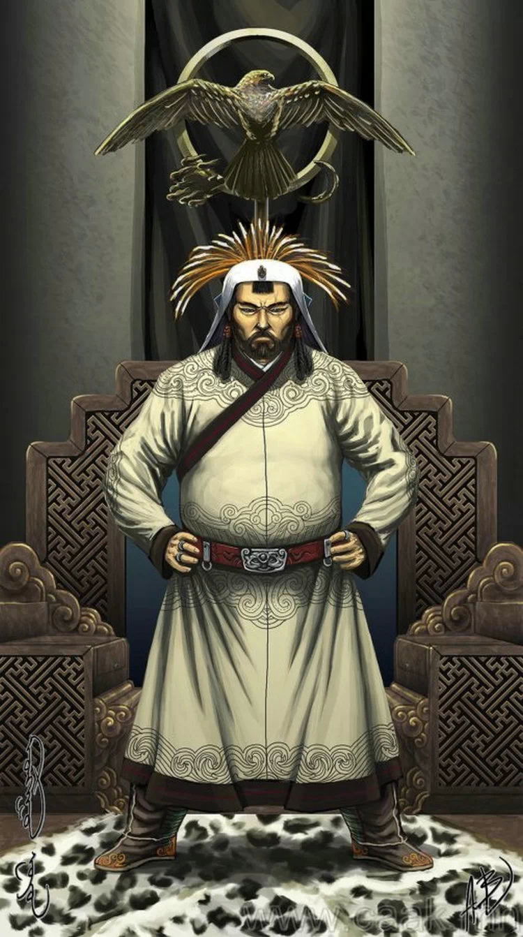 ©◆民族艺术 — 蒙古国布仁额尔敦绘画作品 第1张