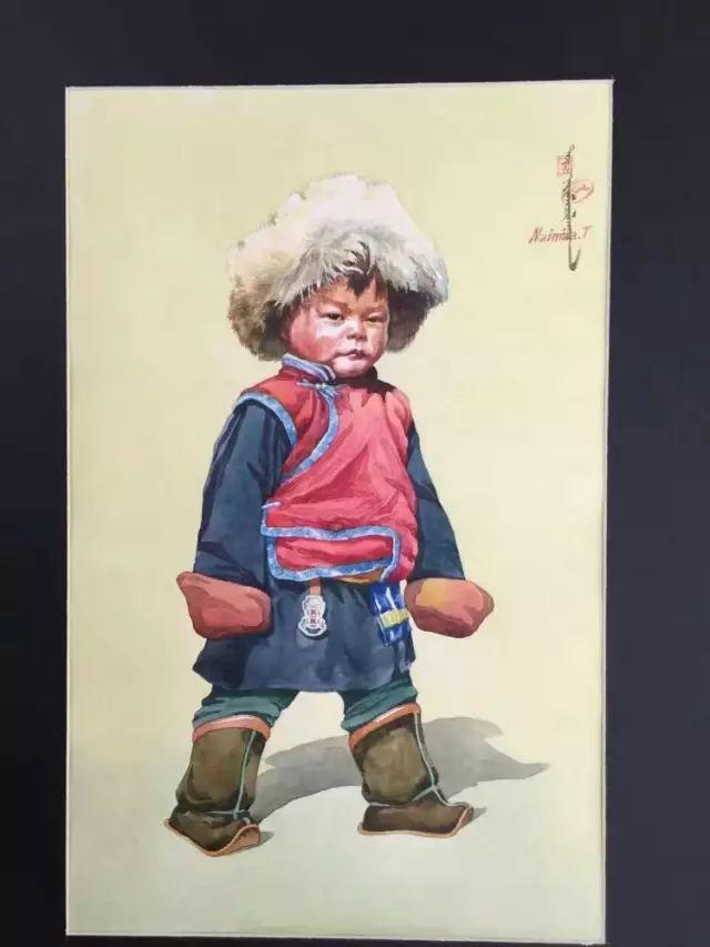 蒙古国水彩画作品赏析 第6张
