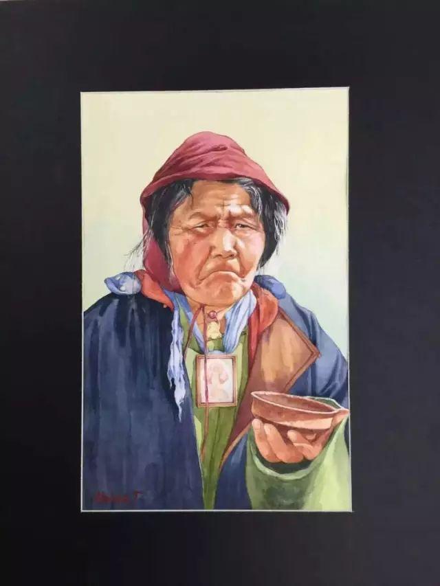 蒙古国水彩画作品赏析 第4张