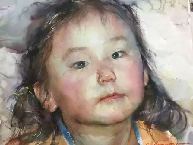 蒙古国水彩画作品赏析 第7张