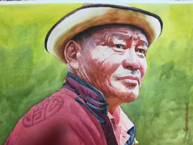 蒙古国水彩画作品赏析 第1张