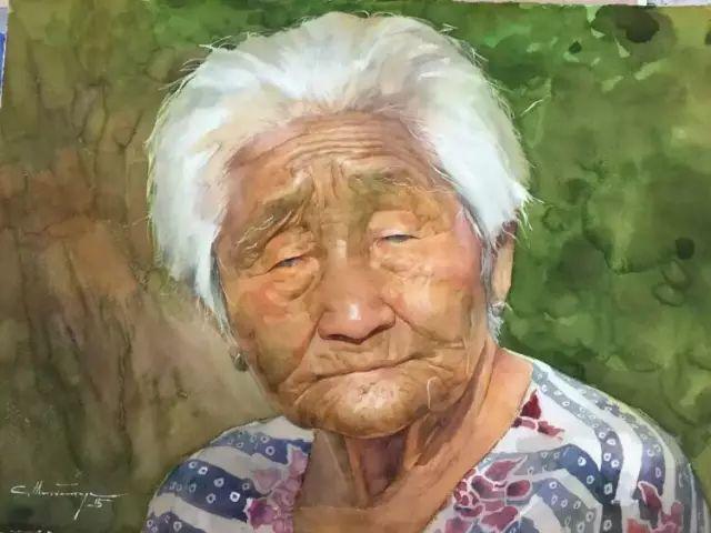 蒙古国水彩画作品赏析 第10张