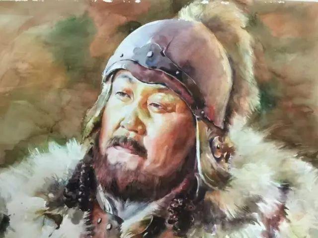 蒙古国水彩画作品赏析 第16张