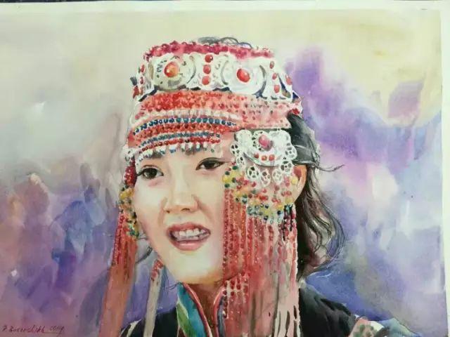 蒙古国水彩画作品赏析 第23张