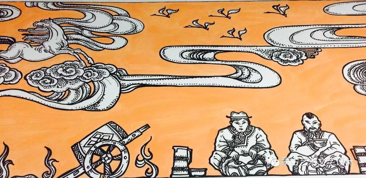 青格尔—— 蒙古族原创插画 第5张