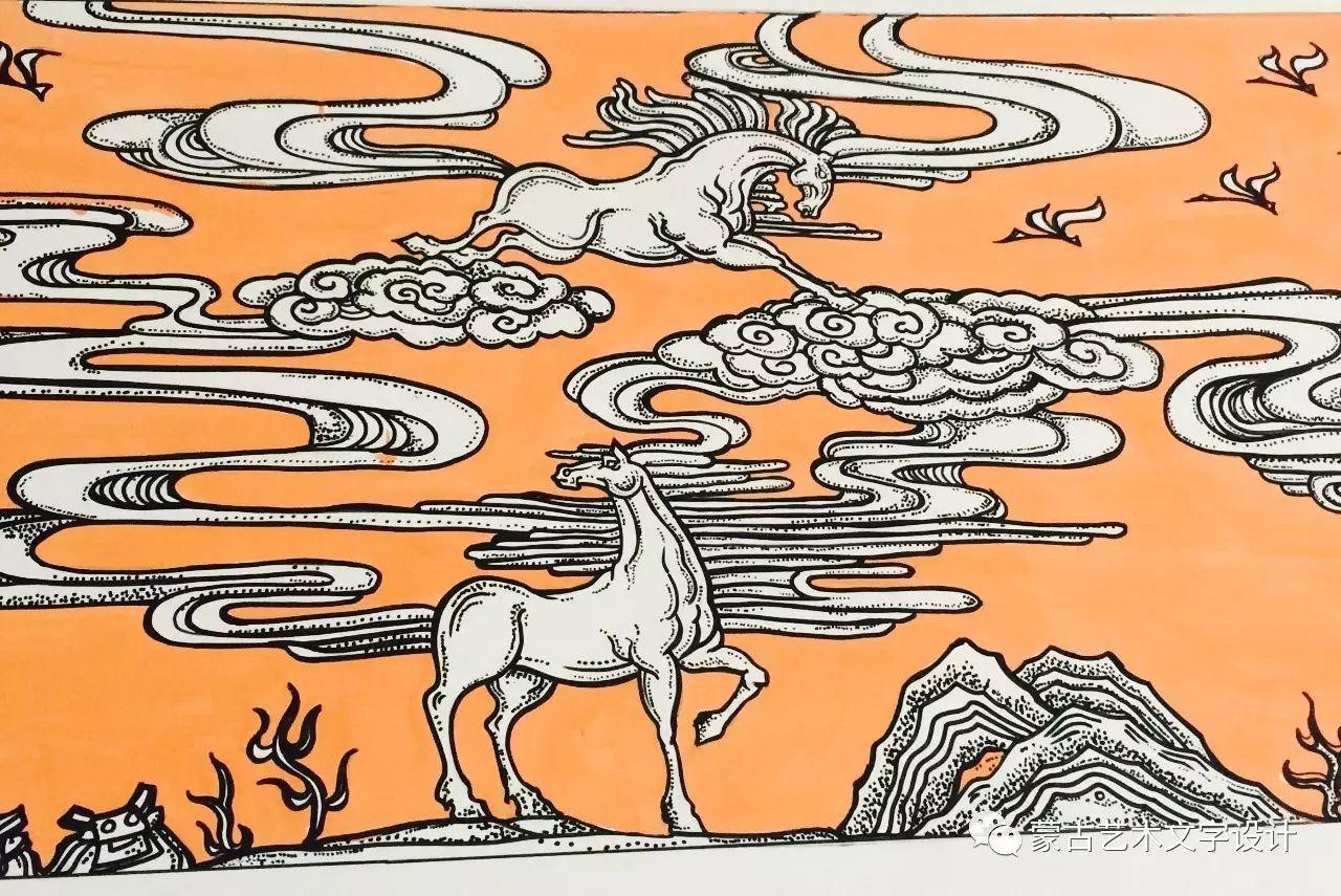 青格尔—— 蒙古族原创插画 第7张