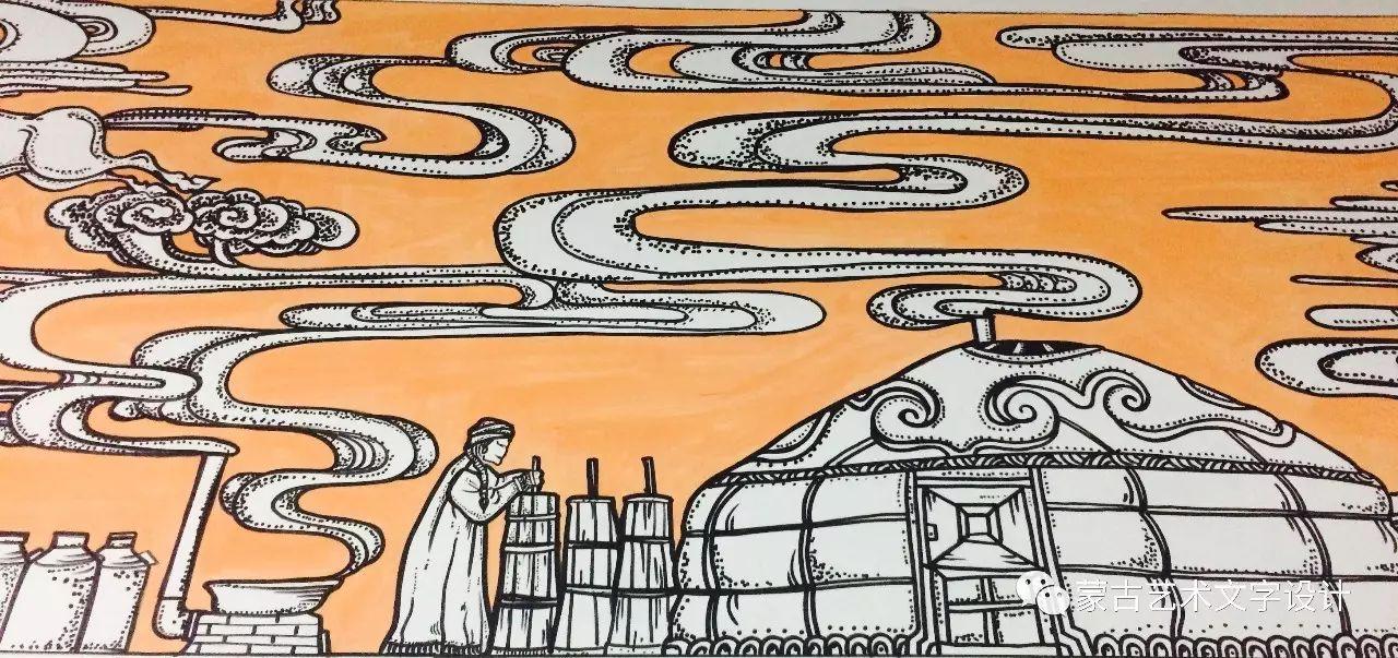 青格尔—— 蒙古族原创插画 第6张