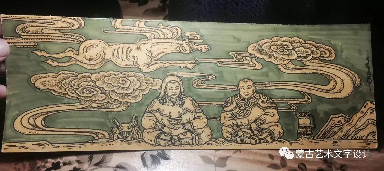 青格尔—— 蒙古族原创插画 第25张
