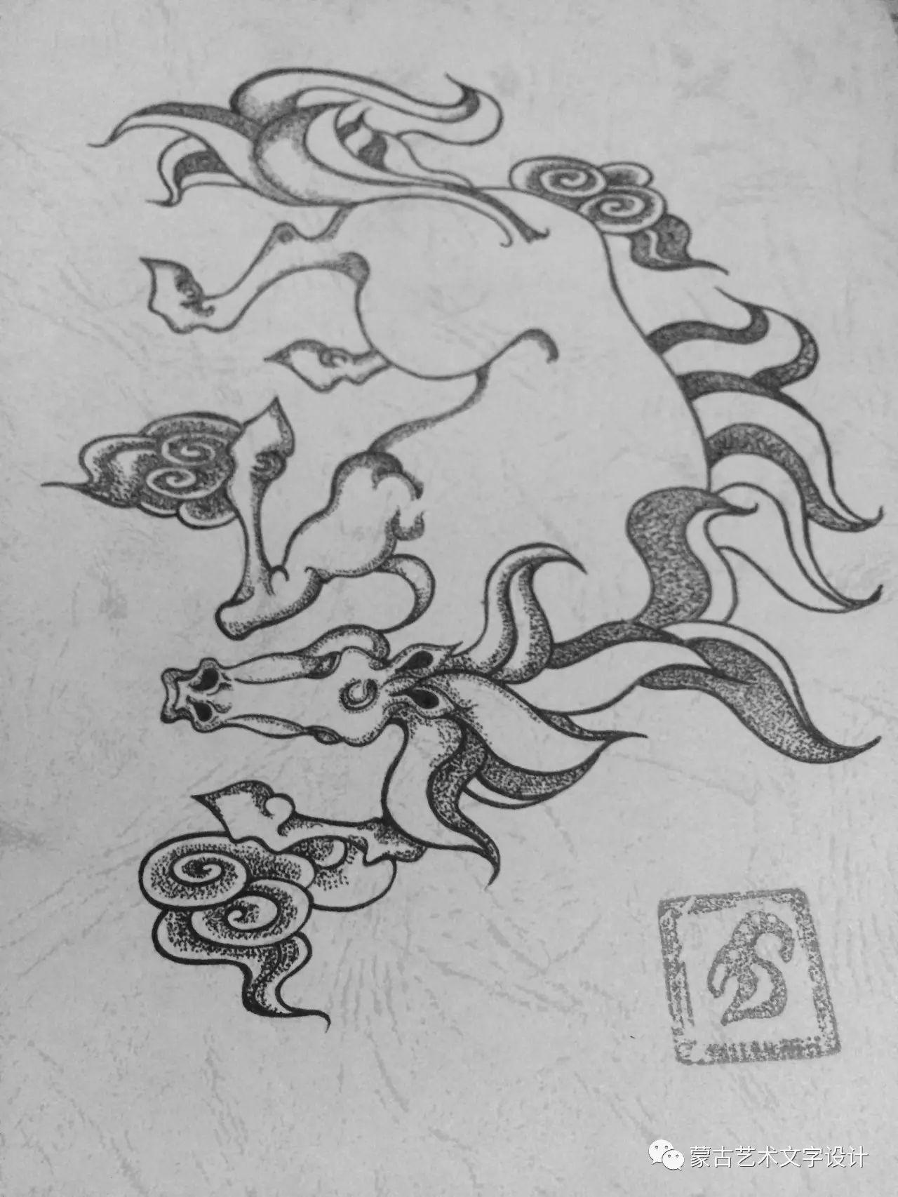 青格尔—— 蒙古族原创插画 第30张