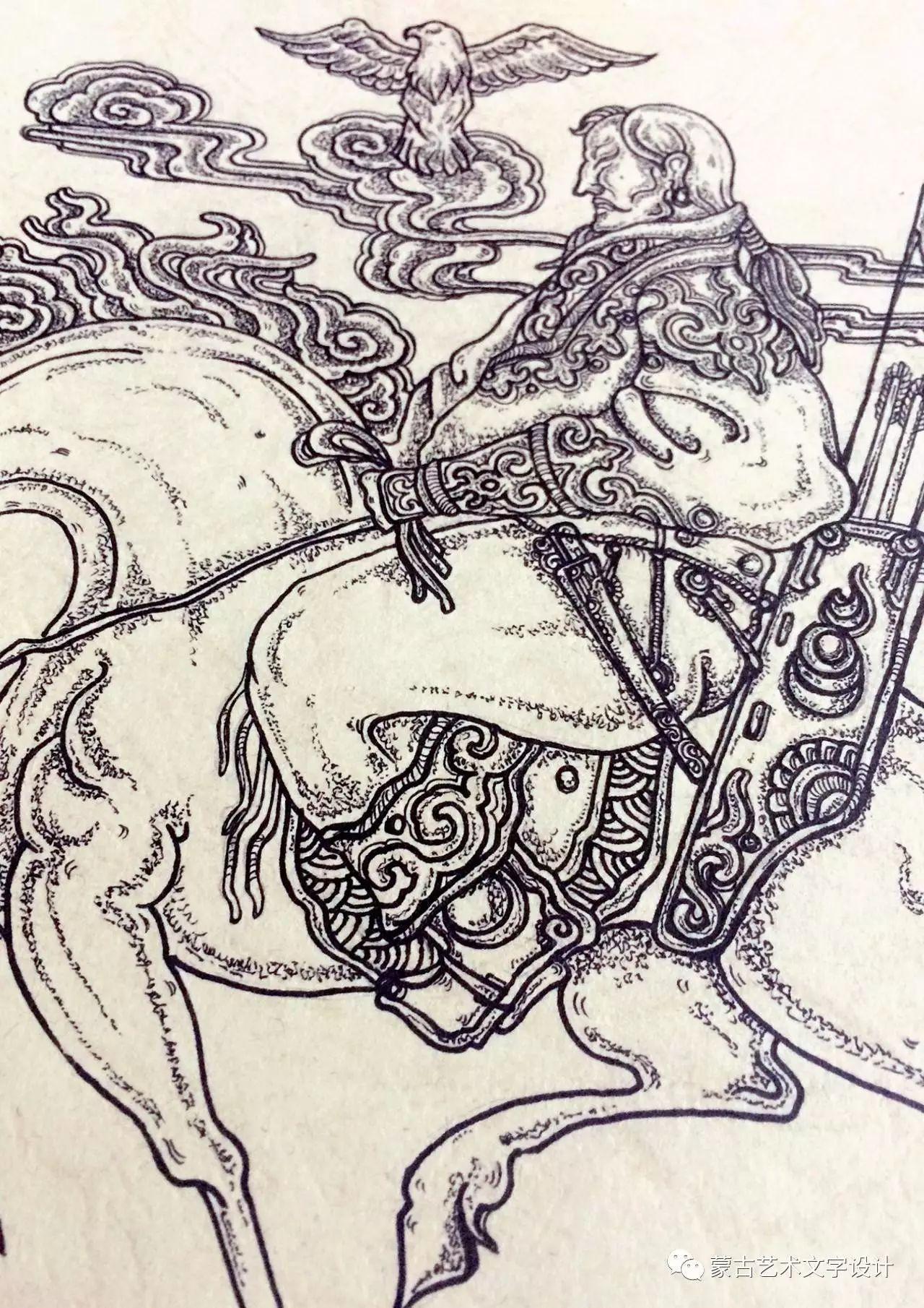 青格尔—— 蒙古族原创插画 第42张