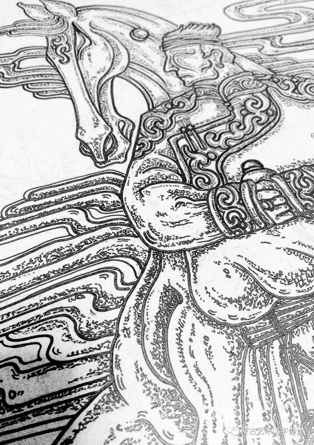 青格尔—— 蒙古族原创插画 第44张