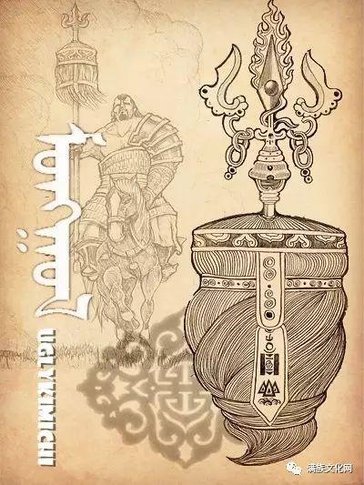 一组有着浓郁蒙古民族风格的插画作品 第6张