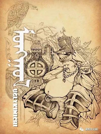 一组有着浓郁蒙古民族风格的插画作品 第8张