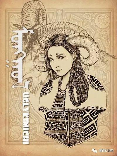 一组有着浓郁蒙古民族风格的插画作品 第11张