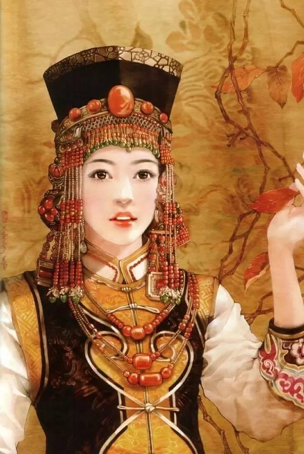 德珍笔下的 蒙古各部落 美女插画 第4张