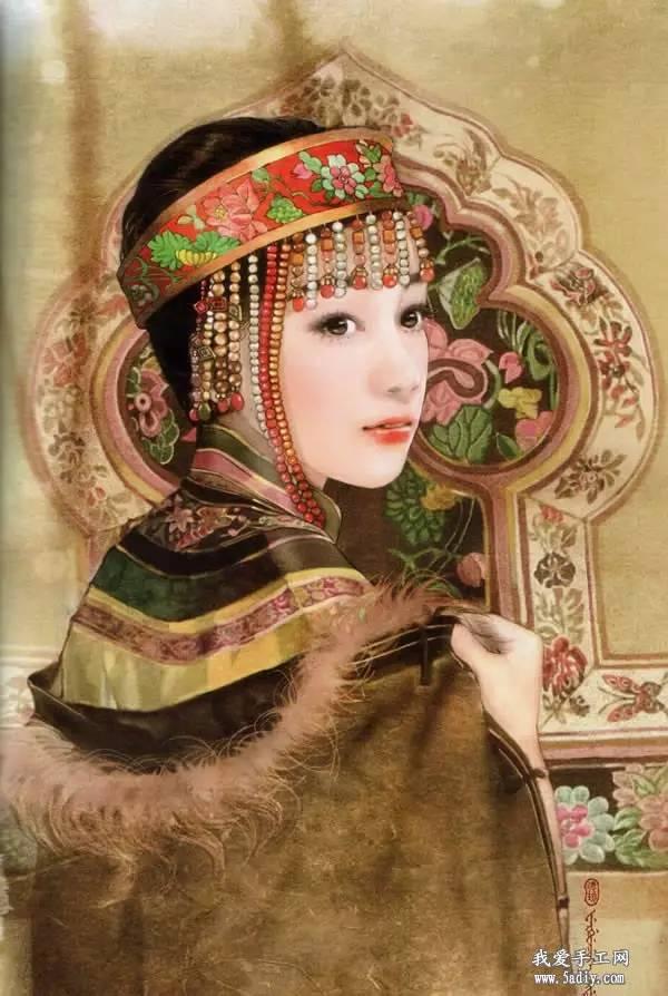 德珍笔下的 蒙古各部落 美女插画 第8张