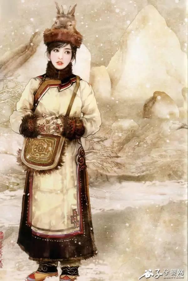 德珍笔下的 蒙古各部落 美女插画 第17张