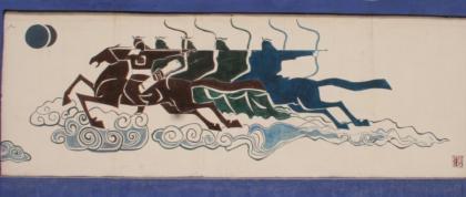扎鲁特旗蒙中墙绘 第14张