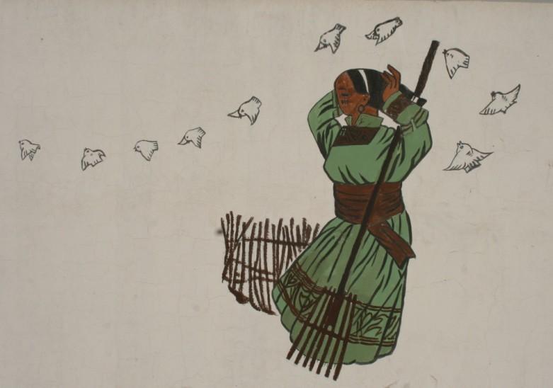 扎鲁特旗蒙中墙绘 第22张